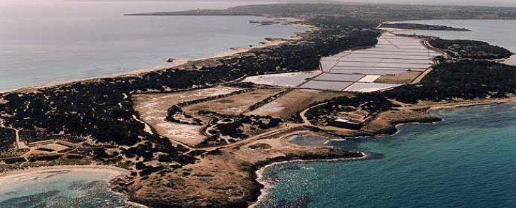 Areal view of Formentera