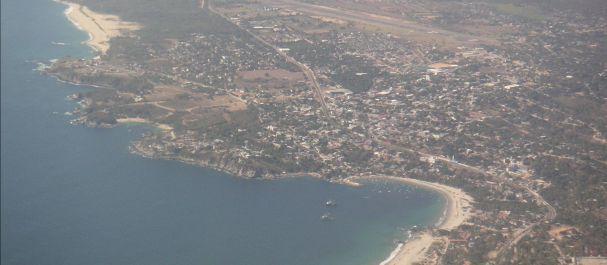 Fotografía de Oaxaca: Puerto Escondido Vista aérea