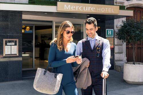 Foto del exterior de Hotel Mercure Bilbao Jardines de Albia