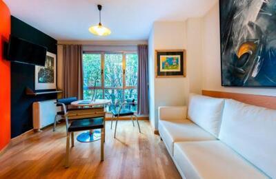 Foto de una habitación de Apartamentos León