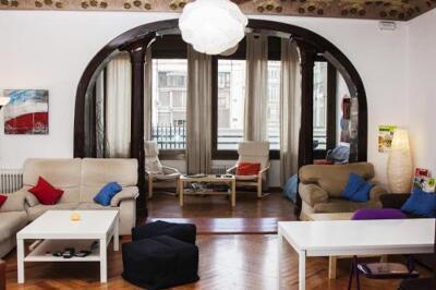 Foto de las zonas nobles de Art City Hostel Barcelona