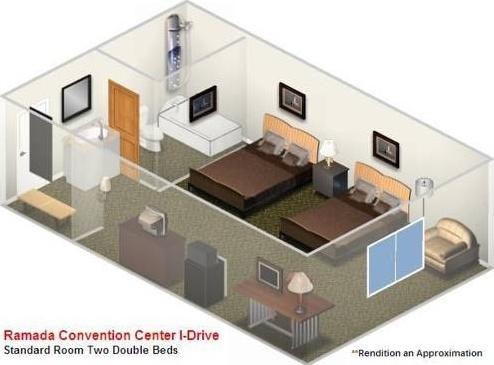 3d room planner hotel ramada inn convention center i drive orlando 31159