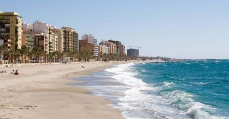 Foto von Almería: Vista playa y ciudad