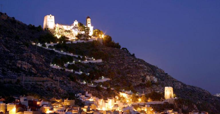 Fotografía de Cullera: Castillo de Cullera de noche