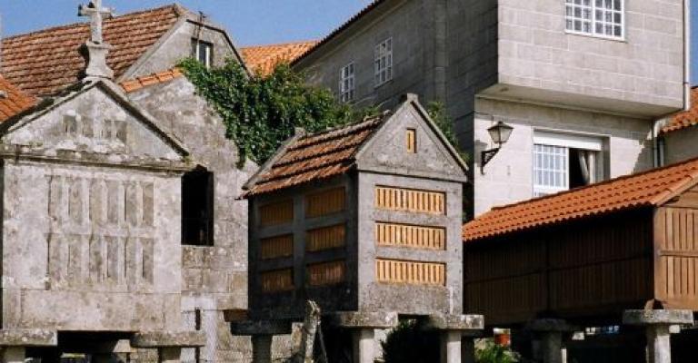 Foto : Hórreos en Galicia