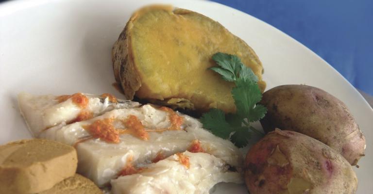 Foto von Puerto Rico: Gastronomia de Gran Canaria con papas arrugadas