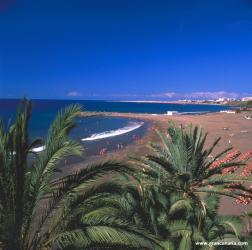 Vista sobre la playa de San Agustín