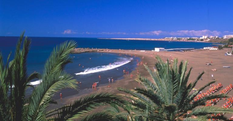Foto : Vista sobre la playa de San Agustín