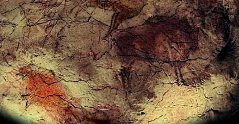 Foto : Techo de la Cueva de Altamira