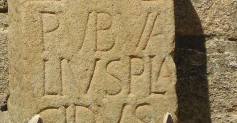 Fotografía de Trujillo: Inscripción romana en la alcazaba de Trujillo