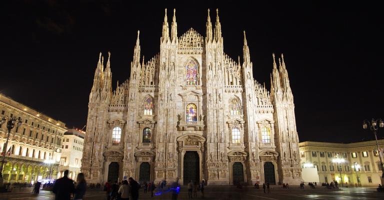 Fotografía de Milán: Duomo Milano de noche
