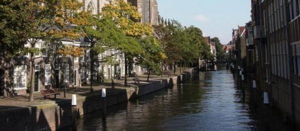 Foto von Dordrecht: Canal en Dordrecht