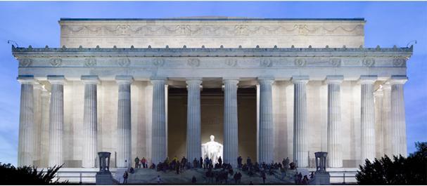 Picture United States: Washington - Lincoln memorial
