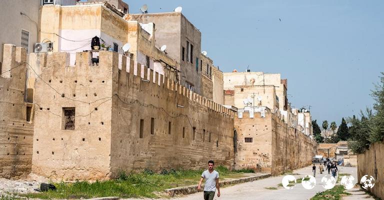 Fotografía de Fez-Bulmán: Fez - Mellah Muralla Barrio judío
