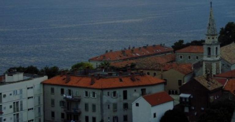 Foto Zara: Puesta de sol sobre Zadar